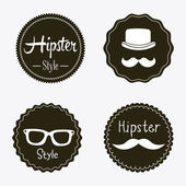 Hipster labels — Vector de stock
