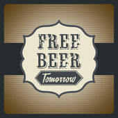 Free beer — Stock Vector