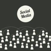 Media spolecznosciowe — Wektor stockowy