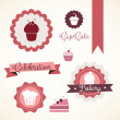 Stock Vector: Cake & Cupcakes icons