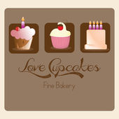 Cake & Cupcakes icons — Stock Vector