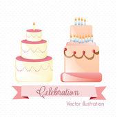 Cake & Cupcakes icons — 图库矢量图片