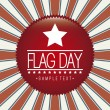 Stock Vector: Flag day