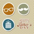Stock Vector: Fathers day