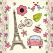 Love Paris — Stockvectorbeeld