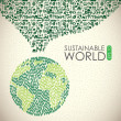 Sustainable world — Image vectorielle