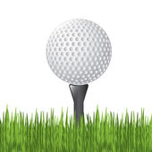 Golf ball — Stock Vector