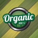 organiczny przycisk — Wektor stockowy