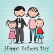 Happy Fathers day — Stockvectorbeeld