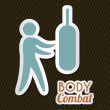 Body combat — Stock Vector