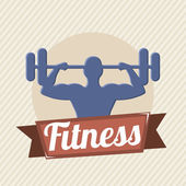 Fitness vector — Stock Vector