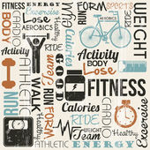 Fitness vektör — Stok Vektör