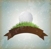 Ball golf — Stock Vector