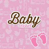 Baby card — Vector de stock