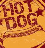 Hot dog — Stock Vector