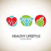 Healthy lifestyle icons — Stock Vector