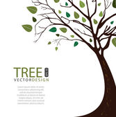 Tree vector design — Vector de stock