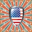 U.S shield — Vector de stock #25472003