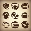 Stockvektor : Health icons