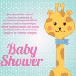Giraffe baby shower - Stock Vector