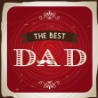 The best dad — Stock Vector