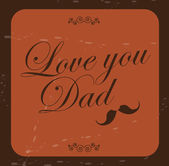 Vove you dad — Stock Vector