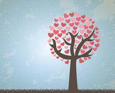árvore do amor — Vetorial Stock