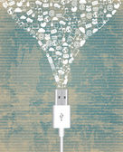 Wire usb vintage — Vector de stock