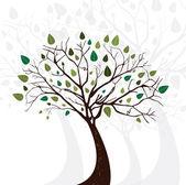 Tree silhouette — Vector de stock
