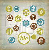Bio-symbole — Stockvektor