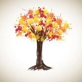 Painted tree — Stock Vector