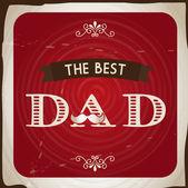 The best dad — Stock Vector
