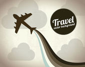 Travel background — Stok Vektör