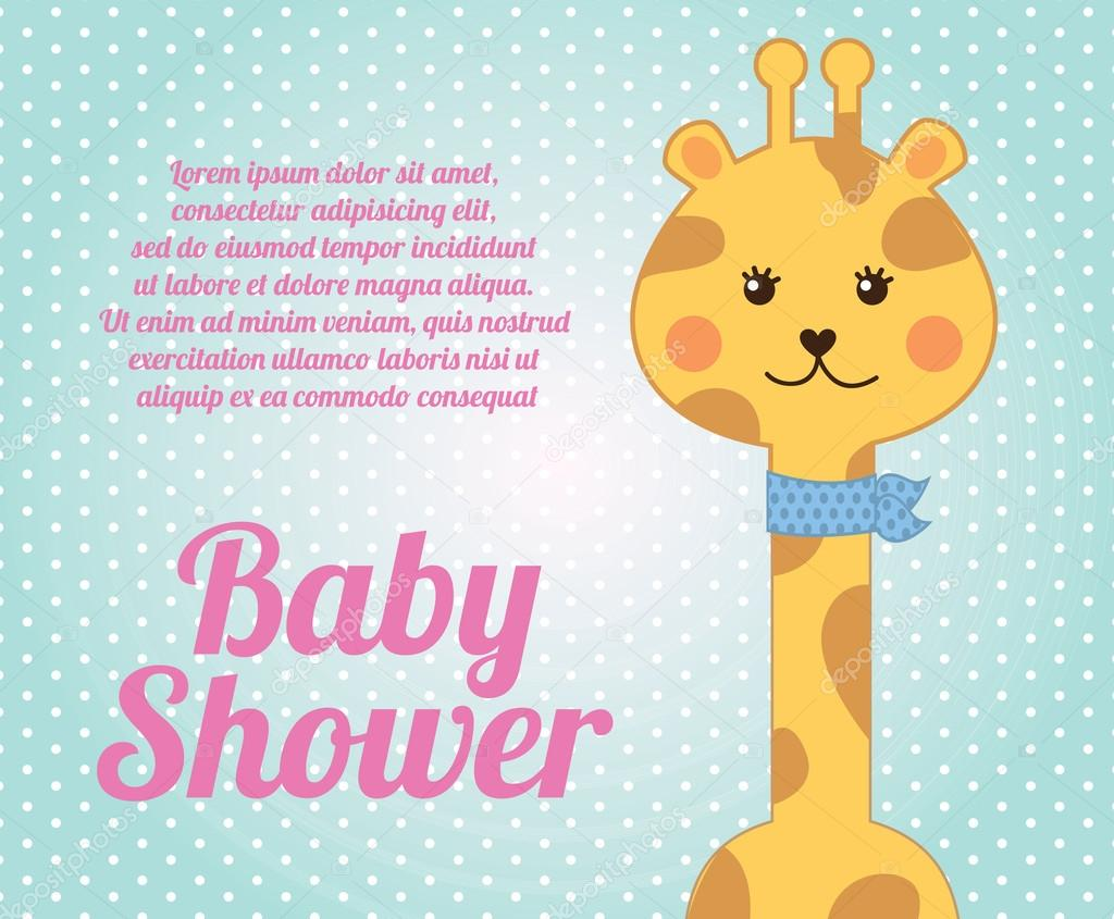 giraffe baby shower stock vector yupiramos 25476935