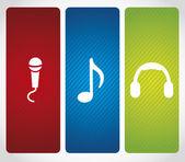 Audio icons — Stock Vector