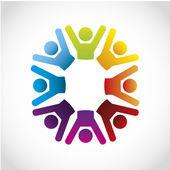 Iconos de cooperación — Vector de stock