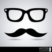 Glasses and mustache — Stock Vector
