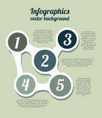 Numbers and infographics — Stock Vector