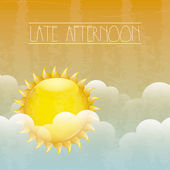Late afternoon — Stock Vector