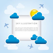 Sky frame — Stock Vector