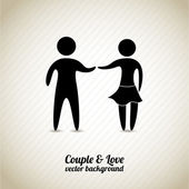 Couple and love — Vector de stock