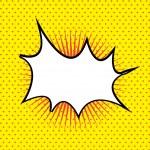 Comics signal yellow — Stock Vector #25602547