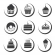 Stock Vector: Cake icons