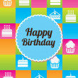 Colorful birthday — Stock Vector