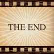 The end vintage  — Stock Vector