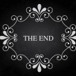 The end — Stock Vector