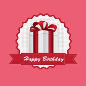 Birthday gift — Stock Vector