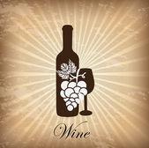 Wine cover — Stock Vector