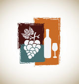Wine vintage — Stock Vector