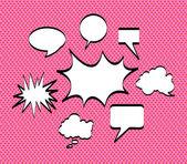 Comics icons pink — Stock Vector